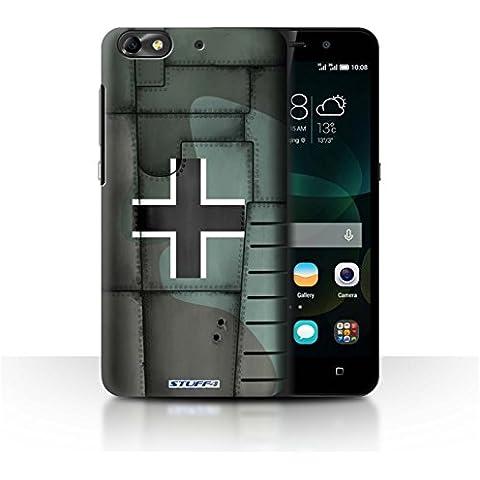 Custodia/Cover Rigide/Prottetiva STUFF4 stampata con il disegno Aereo caccia Ala per Huawei G Play Mini -