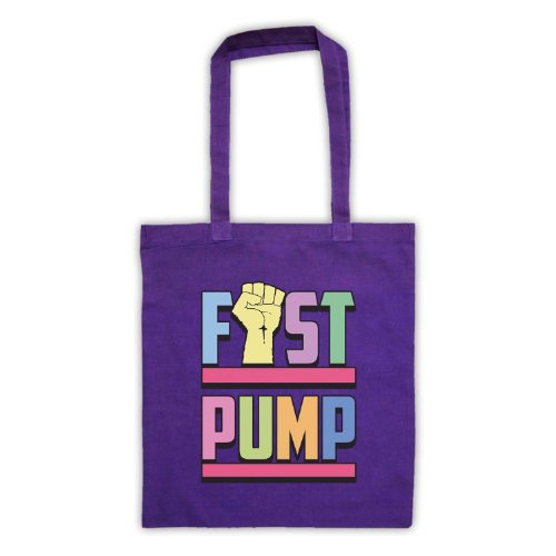 Fist pompa Slogan Tote Bag Viola
