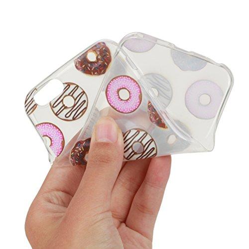 Per iPhone 6 Plus/ 6S Plus Custodia morbido,Herzzer Mode Crystal Creativo Elegante Fenicottero Quadro Dipinto Design trasparente case cover,Protettivo Skin in Liscio Smooth Toccare Unico Molto sottile donut