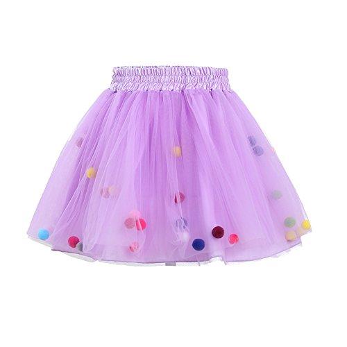 Brightup Baby Kinder Mädchen Prinzessin Party Tanz Ballett Ballettröckchen Rock Kleid Sommer (Tragen Tanz Für Mädchen)
