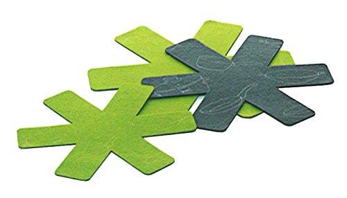 kela 11650 Set poêle Protection Amparo 3 pièces de Feutre Vert/Gris, Felt, 39 x 39 x 0,5 cm