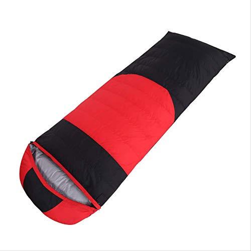 Saco de Dormir RTGFS Saco de Dormir para Adultos al Aire Libre Doble Saco de Dormir Ultra Ligero Abajo Sobres para Acampar Camping Camping Saco de Dormir 1000G (50 Terciopelo) Rojo