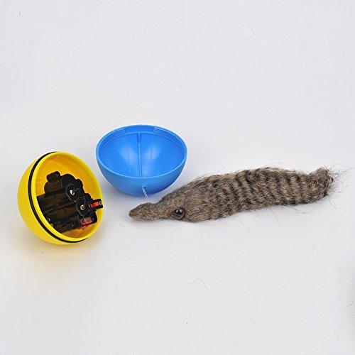 Kunststoff Kunstfell Chaser Ball Wiesel Ball Spielzeug für Haustiere Puppy Katze Hund Kinder