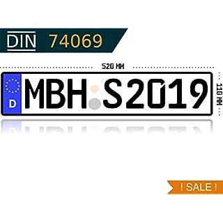 KFZ Kennzeichen Autokennzeichen Wunschkennzeichen Nummernschild PKW Kennzeichen Fahrradträger Anhänger reflektierend individualisierbar