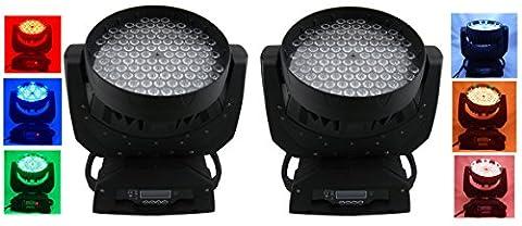 Eshine 8pcs/lot LED RGBW 108x3w Wash Moving Head Light Stage Lighting Pour Anniversaire DJ Disco KTV Bar Party événement de Noël Wedding