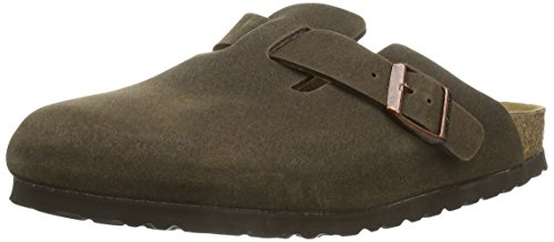 Birkenstock Classic Boston Vegan, Unisex Adult Zoccoli, Marrone (Braun (COCOA BROWN  MF-FB)), 41 (7.5 UK)