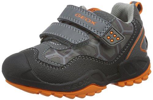 Geox J New Savage Boy B - Zapatillas para niños, color gris (grey/orangec0036), talla 27 EU (9 Child UK)