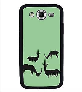 Fiobs High Glossy Designer Phone Back Case Cover Samsung Galaxy Mega 5.8 I9150 :: Samsung Galaxy Mega Duos 5.8 I9152 ( Deer Case Deer Look )