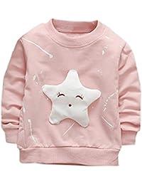 K-youth Sudadera para Niñas Ropa Bebé Niña Tops Niños Pentagrama Camiseta de Manga Larga Sudadera Niños Sweat Shirt Ropa Bebe Niña Otoño Invierno Blusas Bebe Niño Tops