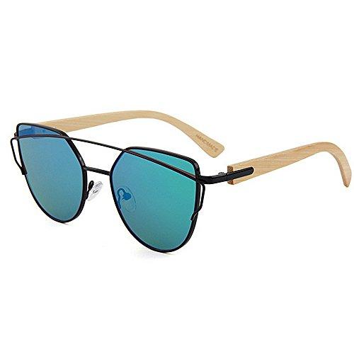 Asdflina occhiali da sole polarizzati unisex personality metal frame bamboo leg occhiali da sole unisex occhiali colorati protezione uv handcraft for men women uv400 marca occhiali da sole firmati