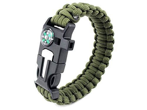Plsonk Explorer Compass, Bracelet Multifonctions en Polyester pour Les Sports de Plein air (Army Green) Outil de Navigation