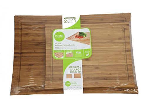 Core Bamboo Set of 2 Cutting Boards by Core Bamboo