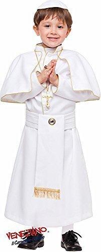 Fancy Me Italian Made Baby &ältere Jungen 4 Stück weiß Katholische Papst Religiöse Karneval Buch Tag Woche Halloween Kostüm Kleid Outfit 1-12 Jahre - Weiß, 11 Years