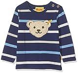 Steiff Baby-Jungen T-Shirt Langarm Langarmshirt, Blau (Medieval Blue 3062), 86 (Herstellergröße: 086)