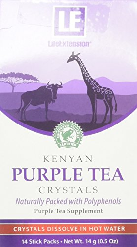 Life Extension Kenyan Purple Tea Crystals, 14 Stick Packs, 14g
