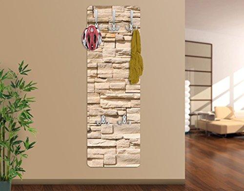 Apalis appendiabiti da parete wall of ashlar design