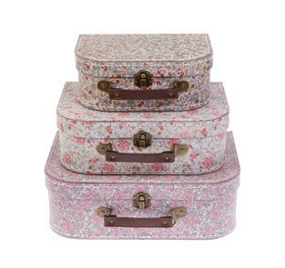 Sass & Belle Lot de 3 valises de rangement vintage...