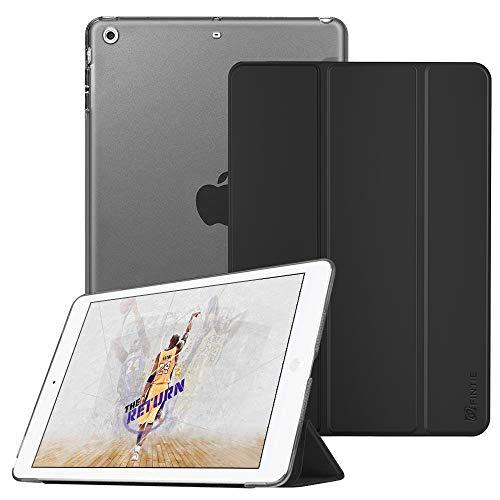Fintie iPad Mini Hülle - Ultradünne Superleicht Schutzhülle mit transparenter Rückseite Abdeckung Cover mit Auto Schlaf/Wach Funktion für Apple iPad Mini/iPad Mini 2 / iPad Mini 3, Schwarz (Fintie Ipad Mini 2 Case Tastatur)
