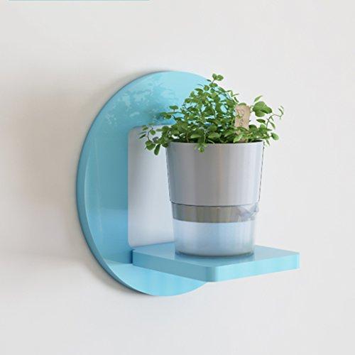 ZHIWUJIAZXM GRJH® Rack, Kreativ auf der Wand Wohnzimmer Regal Wand Hängend Blumenregale Dekorrahmen Rahmen Wand Wand Pflanze Blumentopf Rack Wasserdicht und Langlebig (Farbe : Blau) 5 Regal-land Bücherregal
