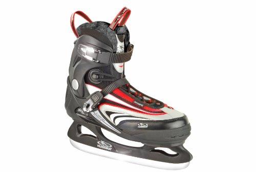 HUDORA Schlittschuhe Semisoft Iceskate Top Speed, Gr. 41, schwarz rot, 44941