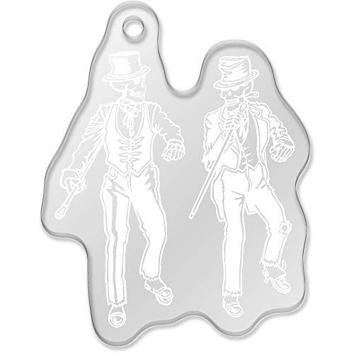 Azeeda 'Stepptanz Skelette' Großer Schlüsselanhänger (AK00044544)