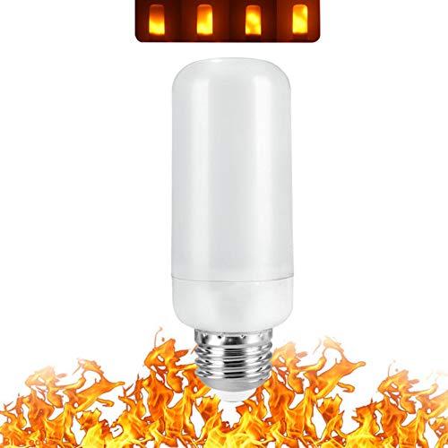 (ZCLD 4 Pack Full Model 3W 5W 7W E27 E27 E27 E12 LED Flame Effect Light Bulb 85-265V LED Flame Effect Incandescent Flickering Emulation Festival/Hotel/Bar Party Decoration LED Lamp, 5W Small, E14)