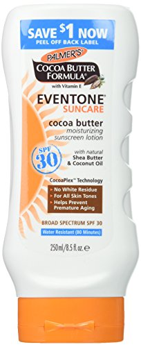 Palmer's Cocoa Butter Formula With Vitamin E, Eventone Suncare Sunscreen Lotion, SPF 30, 8.5 Fl Oz by Palmer's
