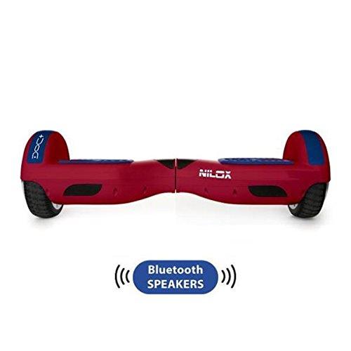 Nilox Plus UL 2272 Doc Hoverboard Bluetooth, Geschwindigheit 10 Km/h, Rot, 25.7 x 28 x 65.5 cm - 4