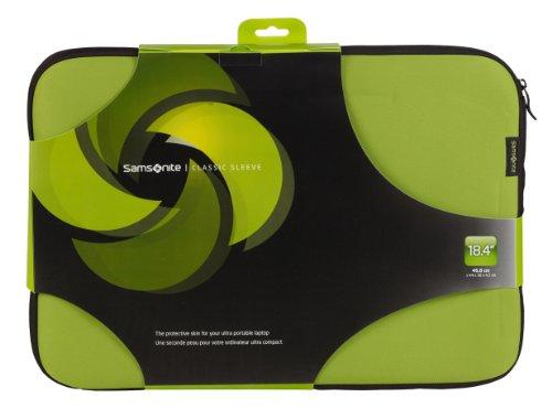 18.4 (Samsonite Schutzhülle / Schutz-Sleeve, für 18,4 Zoll / 46,73 cm Laptops, mit Reißverschluss, in 5 Farben erhältlich Green & Black)