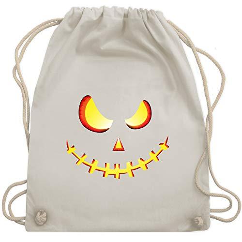 Halloween - Gruseliges Kürbis-Gesicht - Unisize - Naturweiß - WM110 - Turnbeutel & Gym Bag