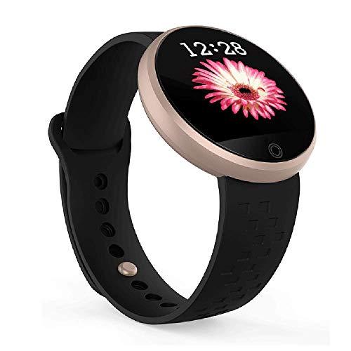 HKPLDE Smartwatch Bluetooth Touchscreen mit Pulsmesser Kalorienzähler Schlafüberwachung Sportuhr Damen für iOS Android -Schwarz