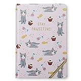 Tri-Coastal Design Notizbuch mit Streifenmuster, 14,5 x 21 x 1,8 cm, ideal für Schule, Haus oder Büro