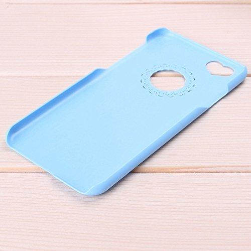 Wkae Case Cover 0.7mm ultra thin polycarbonat material schutz für ihren pc für iphone 6 plus &65 plus ( Color : Pink ) blau