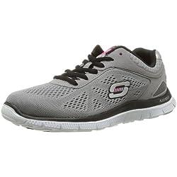 Skechers - Scarpe da ginnastica da donna, Grigio (Grau (LGBK)), 37