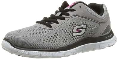 Skechers Flex AppealLove Your Style, Damen Sneakers, Grau (LGBK), 35 EU