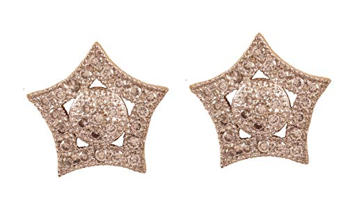 1413bf27d7b32 Touchstone New Indian Bollywood Pretty Styled Star Shape Real Diamond Look  Studded Cubic Zirconia CZ's Designer Jewelry Earrings In Gold and Silver ...