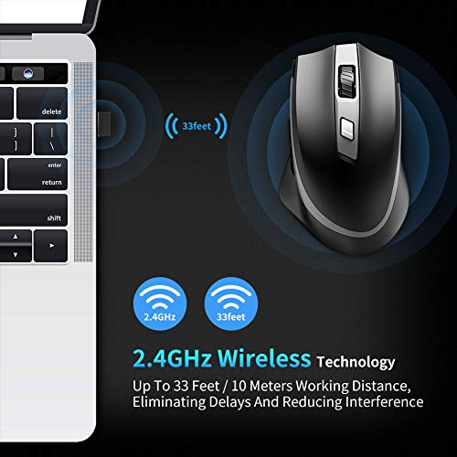 Zoom IMG-3 tedgem mouse wireless ricaricabile usb