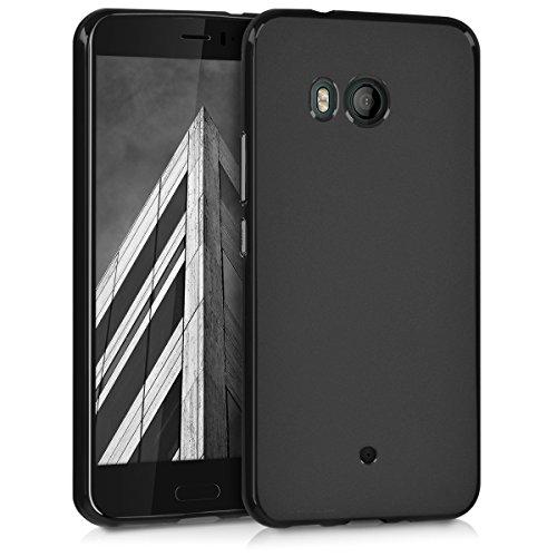 kwmobile Hülle für HTC U11 - TPU Silikon Backcover Case Handy Schutzhülle - Cover Schwarz matt