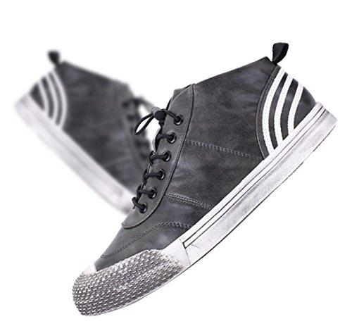 WZGi pattini di modo dei nuovi uomini di inverno di giovani coreani scarpe sportive scarpe basse pizzo marea selvaggio degli uomini della testa shell , gray , 42