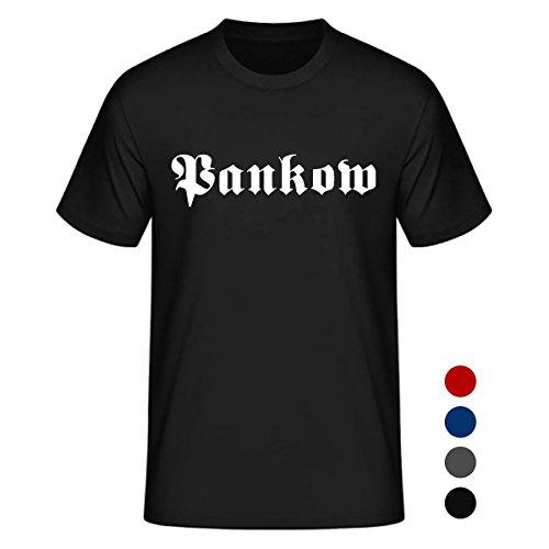 Dein Kiez Unisex T-Shirt Altdeutsch Pankow in den Farben schwarz, rot, blau und anthrazit