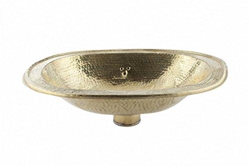Kupfer-waschbecken (Oval Kupfer handgefertigt Marokkanische Waschbecken – Große, gehämmert – L49 W39 H16 cm)