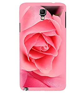Printvisa Water Dripping Pink Rose Back Case Cover for Samsung Galaxy Note 3 Neo N7505