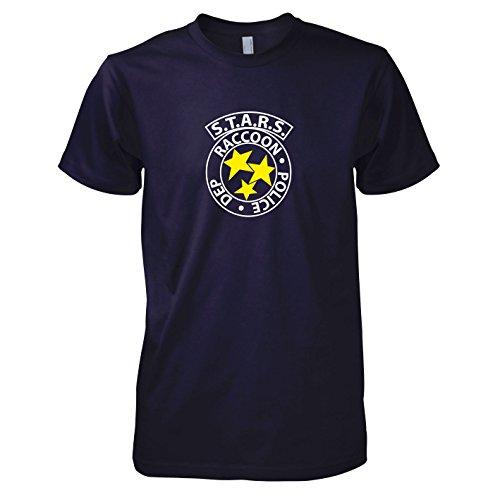 TEXLAB - RE: S.T.A.R.S. Logo - Herren T-Shirt, Größe M, navy (Kostüm Resident Evil 2)