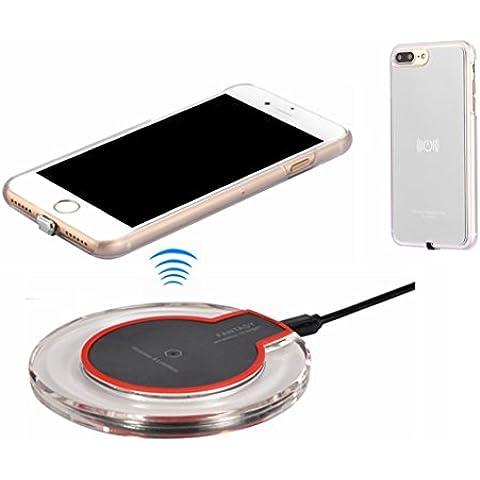 Kit di ricarica wireless per iPhone 7Plus, hanende Qi Wireless Charging Pad e ricevitore wireless per iPhone 7Plus