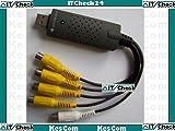 KesCom 38020 Video Grabber USB Capture Card 5xCinch 4V/1A Eingänge