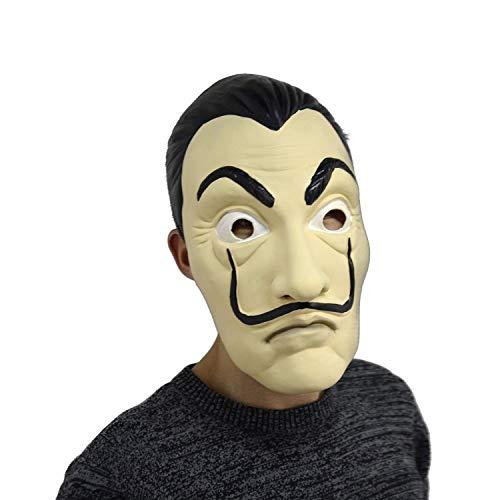 Salvador Dali Maske - Latex - Fasching/Halloween Maske - Einheitsgröße für Erwachsene