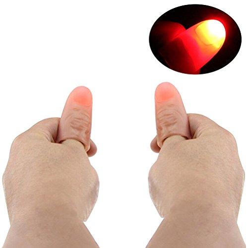 nger-Trick-Daumen-Tipp-Licht-weiche Finger-Lichter für Kinder Super heller blinkender Finger-Lampe (rotes Licht) 4pcs ()
