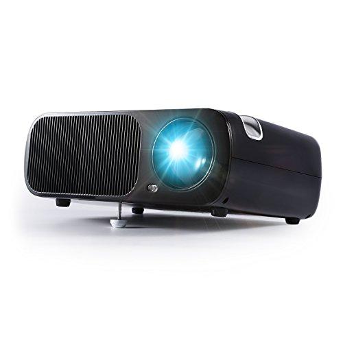 HD WiFi Beamer, LESHP HD Portble 2600 Lumen Projektor, LED LCD USB Heimkino Videoprojektor 800x480 Native Auflösung Unterstützt 1080P TV AV HDMI VGA 2600 lumens für zu Hause, Präsentation, Unterwegs Konferenzrunde Party Unterhaltung(schwarz)