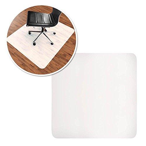 HENGMEI Bodenschutzmatte Bürostuhlmatte Bodenschutz Semi transparent Milchig Bürostuhlunterlage Bodenmatte Stuhlunterlage Schutzmatte, 90x120cm