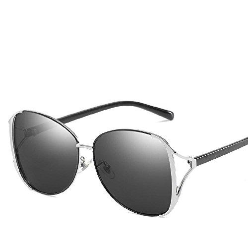 Aoligei Sonnenbrillen Mode Metal Spektakel Frame Ozean Gradient Sonnenbrille Anti-UV-Sonnenbrillen